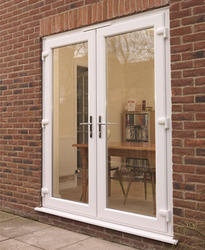 French doors manufacturers from india for Brown upvc patio doors