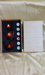 Votive Candle Wooden Box